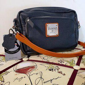 NWT Valentina Pebbled Leather Crossbody Purse Bag
